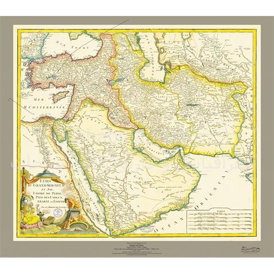 نقشه-امپراتوری-ایران-۱۷۵۳-میلادی
