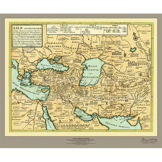 نقشه-ایران-از-آسیای-باستان-۱۷۵۳میلادی