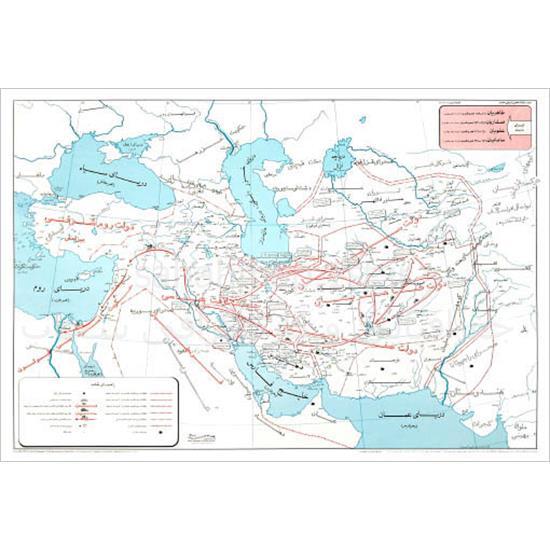 نقشه-ایران-در-زمان-طاهریان،-سامانیان،-علویان-و-صفاریان