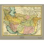 نقشه-ایران-نوین-و-امپراتوری-افغان-ها-۱۸۰۷-میلادی