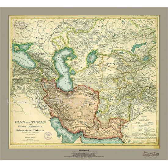 نقشه-ایران-و-توران-۱۸۶۰-میلادی