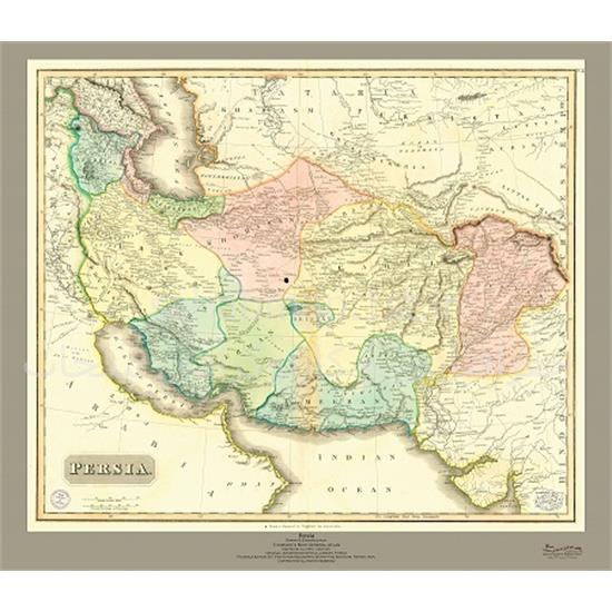 نقشه-ایران-کهن-۱۹-میلادی