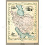 نقشه-ایران-۱۸۵۱-میلادی