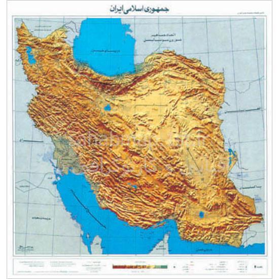 نقشه-برجسته-نمای-ایران-(ونشو)
