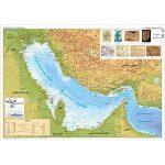 نقشه-برجسته-نمای-خلیج-فارس