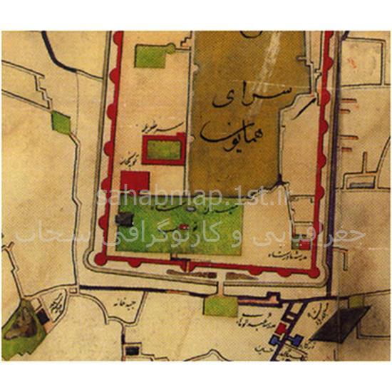 نقشه-تهران-برزین—۱۲۶۸-قمری