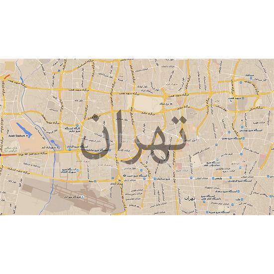 نقشه-تهران-بزرگ—جغرافیایی-سحاب۱
