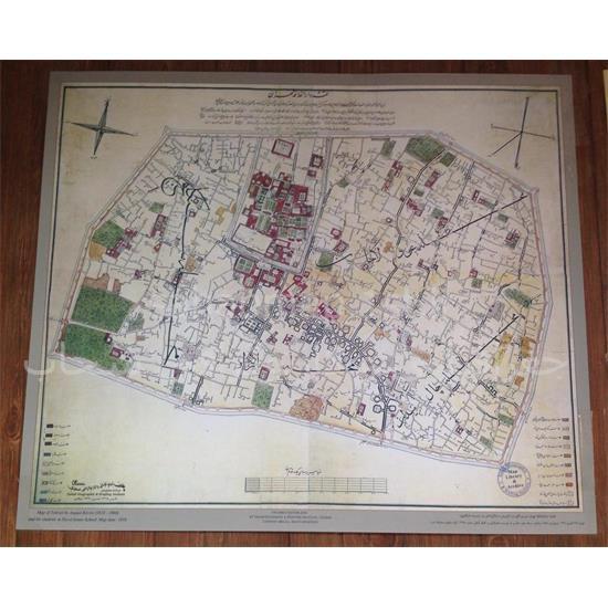 نقشه-تهران-در-دوره-قاجار-(درالخلافه)-۱۲۷۵-هـ-ق—اوایل-دوره-قاجار