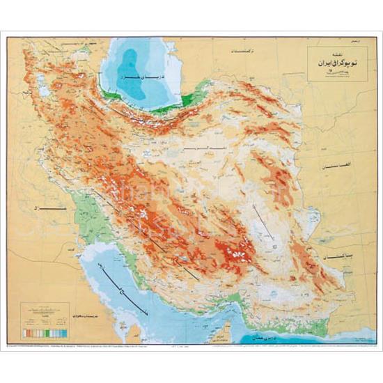 نقشه-توپوگرافی-ایران-(نقاط-ارتفاعی)
