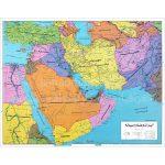 نقشه-سیاسی-ایران-و-خاورمیانه