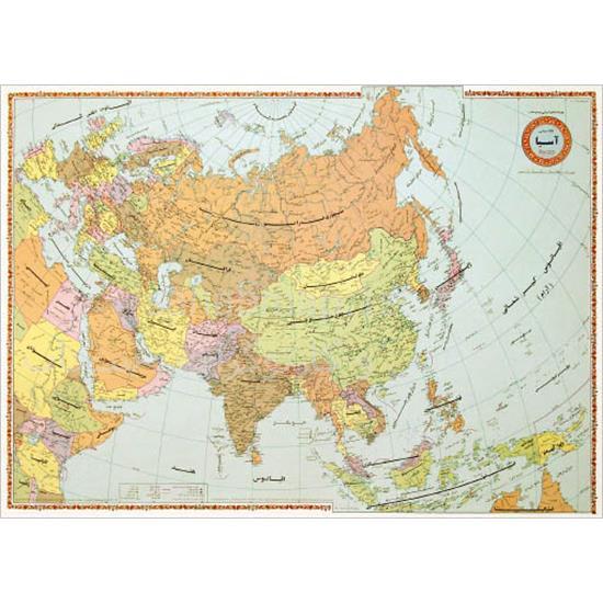 نقشه-قاره-آسیا-سیاسی-۱-متری