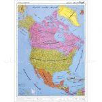 نقشه-قاره-آمریکای-شمالی–سیاسی-۱-متری