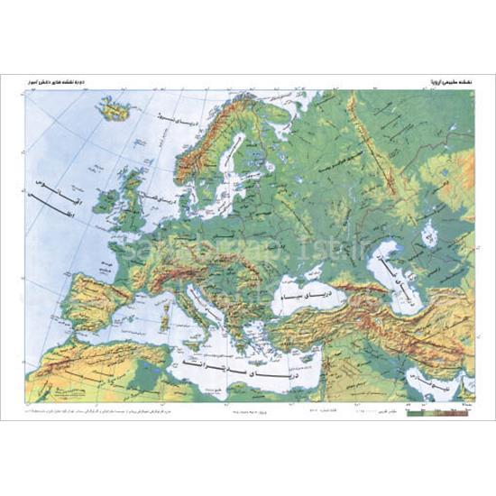نقشه-قاره-اروپا-طبیعی-و-سیاسی-۵۰-۳۵۱