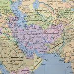 نقشه جهان فارسی در ابعاد ۲ متر در ۱۵۰